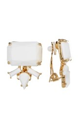 Trina Turk Stone Cluster Earrings Metallic
