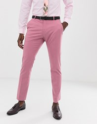 Selected Homme Slim Suit Trouser In Pink