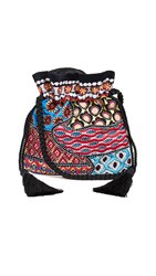 Alice Olivia Rope Embellished Pouch Multi Vista