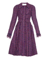 Erdem Adira Hound's Tooth Tweed Coat