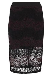 Anna Field Pencil Skirt Burgundy Black Bordeaux