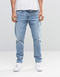G Star Type C 3D Tapered Jeans Light Aged Restored Distressed 85 Medium Aged Blue