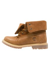Timberland Authentics Laceup Boots Oak Buff Rugged Dark Brown