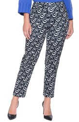 Plus Size Women's Eloquii 'Kady' Print Ankle Pants Half Moons