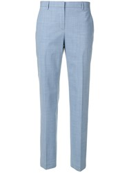 Theory Straight Tailored Trousers Blue