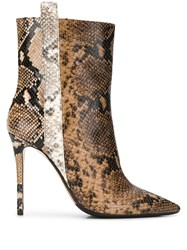 The Seller Pointed Snakeskin Effect Boots 60