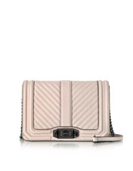 Rebecca Minkoff Soft Blush Quilted Leather Small Love Crossbody Bag Pink