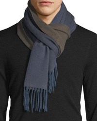 Begg And Co Arran Semi Reversible Cashmere Scarf Gray