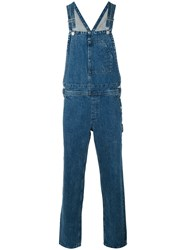 A.P.C. Straight Leg Overalls Men Cotton S Blue