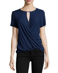 Lamade Farrah Keyhole Ruched Top Blue