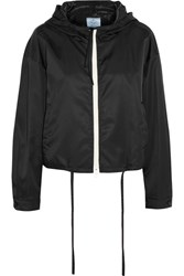 Prada Hooded Gabardine Jacket Black
