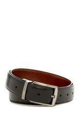 Original Penguin Hi Lo Reversible Leather Belt Black