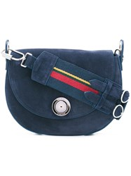 Sonia Rykiel By Saddle Shoulder Bag Women Suede One Size Blue