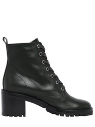 Gianvito Rossi 60Mm Lace Up Nappa Leather Boots