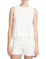1.State Draped Bubble Hem Keyhole Top White