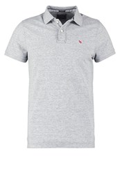 Abercrombie And Fitch Core Muscle Fit Polo Shirt Grey