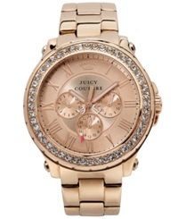 Juicy Couture Women's Pedigree Rose Gold Tone Stainless Steel Bracelet Watch 42Mm 1901083