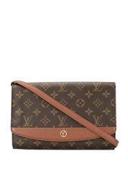 Louis Vuitton Vintage Monogram Shoulder Bag Brown