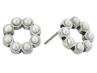 Marc Jacobs Pearl Dot Studs Earrings Cream Antique Silver Earring