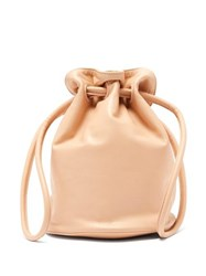 Mansur Gavriel Drawstring Pouch Leather Bag Pink