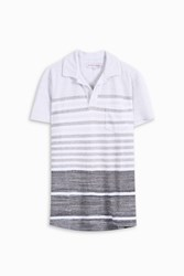 Orlebar Brown Men S Terry Stripe Polo Shirt Boutique1 Grey