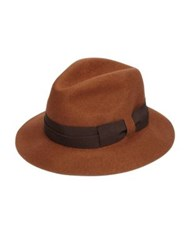 Paul Smith Wool Felt Fedora Brown