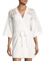 In Bloom Lace Wrap Robe White