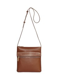 Modalu Erin Leather Crossbody Bag Walnut