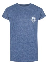 Topman Blue Salt And Pepper Printed Muscle Fit Roller T Shirt