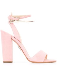 Paul Andrew Ankle Strap Sandals Pink Purple