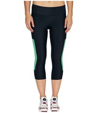 Pearl Izumi Escape Sugar Cycling 3 4 Tights Black Green Spruce Women's Clothing