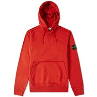 Stone Island Garment Dyed Popover Hoody Red