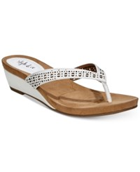 Styleandco. Style Co Haloe Wedge Sandals Created For Macy's Women's Shoes White Perforated