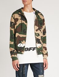 Off White C O Virgil Abloh Camouflage Print Cotton Jersey Hoody