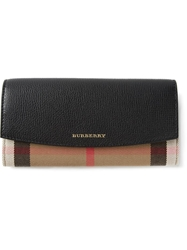 Burberry 'House Check' Continental Wallet Nude And Neutrals