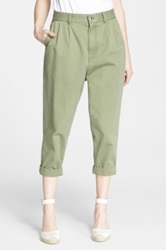 Marc By Marc Jacobs Pleated Crop Pants Green