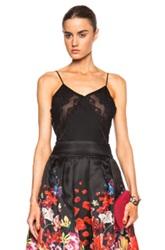 Zuhair Murad Lace Insert Camisole Top In Black