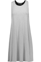 Tart Collections Isadora Layered Stretch Modal Mini Dress Light Gray