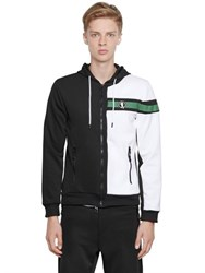 Bikkembergs Two Tone Zip Up Nylon Sweatshirt