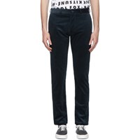 Maison Kitsune Blue Corduroy Perfect Chino Trousers