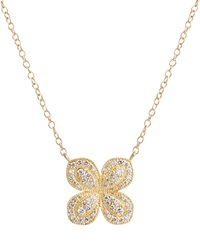 Scalloped Pave Diamond Flower Necklace Jamie Wolf