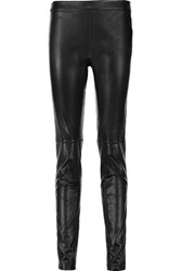 Emilio Pucci Leather Skinny Pants Black
