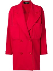 Fendi Vintage Double Breasted Coat Red