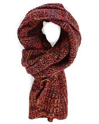 Scotch And Soda Rust Mix Wool Scarf Brown