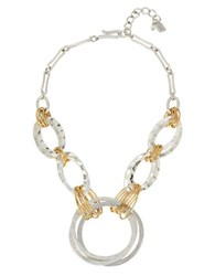 Robert Lee Morris Two Tone Wire Wrapped Circle Necklace