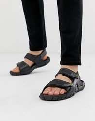 Rider Tender Sandal With Chunky Sole In Black