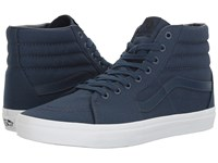 Vans Sk8 Hi Mono Canvas Dress Blues True White Skate Shoes