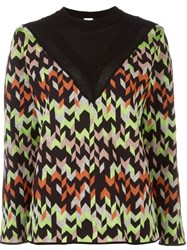 M Missoni Chevron Loose Jumper Black