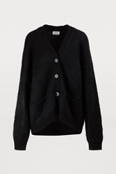 Acne Studios Rives Wool And Mohair Cardigan Black