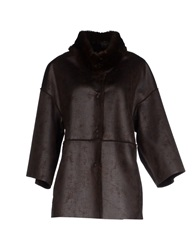 Adele Fado Coats Dark Brown